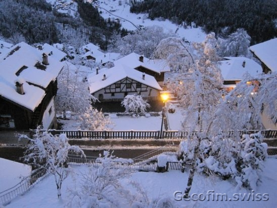 3-bedroom furnished apartment for sale with a beautiful view of the mountains in the village of Gryon, near the Swiss ski resort Villars-sur-Ollon 1 (17)