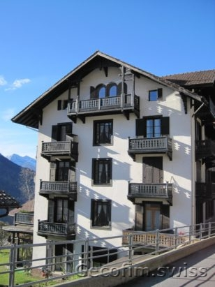 3-bedroom furnished apartment for sale with a beautiful view of the mountains in the village of Gryon, near the Swiss ski resort Villars-sur-Ollon 1 (6)