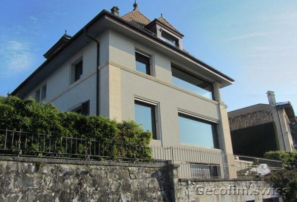 Vente villa sur la rive du lac cologny suisse acheter for Acheter une maison en suisse